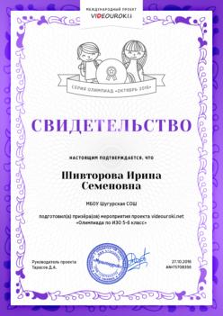 Шивторова И.С.