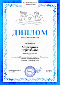 Нертымова Маргарита 6 класс